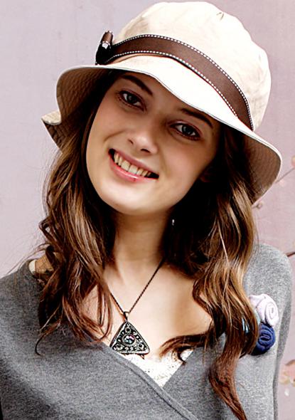 Hat stylized Kaki Bo